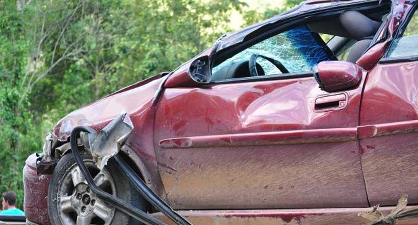 Car accident in Ellicott City, Maryland.